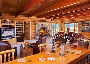 Bar and Media Room - Elk Refuge -  Jackson Hole Luxury Cabin