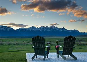 Front Deck - Elk Refuge -  Jackson Hole Luxury Vacation Cabin