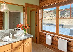 Guest Bathroom - Elk Refuge -  Jackson Hole Luxury Cabin