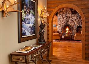 Entryway - Elk Refuge -  Jackson Hole Luxury Vacation Cabin