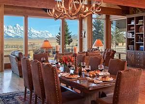 Dining Area - Elk Refuge -  Jackson Hole Luxury Vacation Cabin