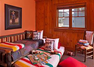 Guest Bedroom 2 - Elk Refuge -  Jackson Hole Luxury Cabin