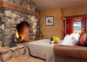 Office with Sofa Bed - Elk Refuge -  Jackson Hole Luxury Cabin