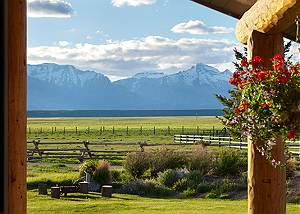 Front Yard - Elk Refuge -  Jackson Hole Luxury Vacation Cabin