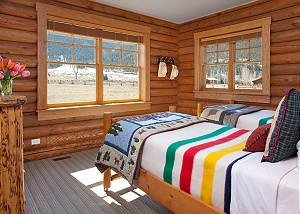 Guest Bedroom 3 - Elk Refuge -  Jackson Hole Luxury Cabin