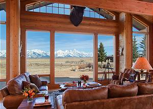 Great Room - Elk Refuge - Jackson Hole Luxury Vacation Cabin
