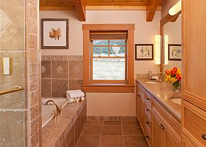 Master Bathroom - Elk Refuge -  Jackson Hole Luxury Cabin