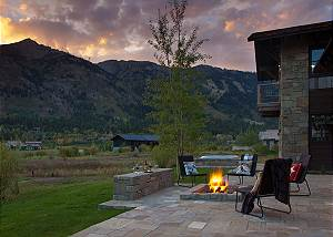 Patio - Canyonland - Teton Village Luxury Vacation Villa Rental