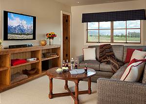 Media Room - Canyonland - Teton Village Luxury Vacation Villa