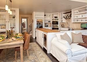 Great Room, Dining Area, and Kitchen - Snow Ridge - Luxury Priva