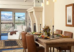 Dining Area and Great Room - Snow Ridge - Luxury Private Villa R