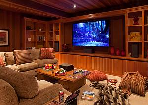 Media Room - Ranchview Lodge - Luxury Villa Rental - Jackson