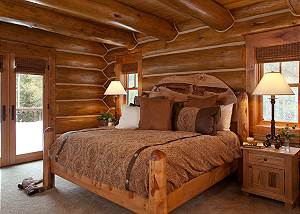Master Bed - Lost in the Woods - Jackson Hole Luxury Cabin