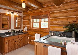 Master Bath - Lost in the Woods - Jackson Hole Luxury Cabin