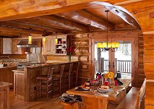 Kitchen - Lost in the Woods - Jackson Hole Luxury Cabin Rental