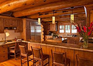 Kitchen - Lost in the Woods - Jackson Hole Luxury Cabin