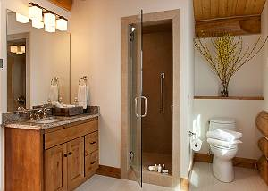 Guest Bath 3 - Lost in the Woods - Jackson Hole Luxury Cabin