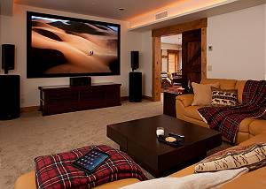 Media Room - Lost in the Woods - Jackson Hole Luxury Cabin