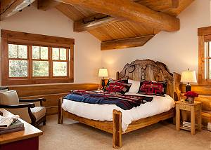 Guest Bed 3 - Lost in the Woods - Jackson Hole Luxury Cabin