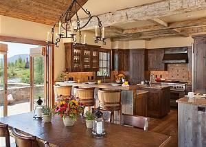 Dining Area, Kitchen - Shooting Star Cabin - Luxury Villa Rental