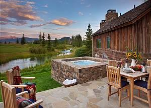 Patio - Shooting Star Cabin - Luxury Villa Rental - Teton Villag