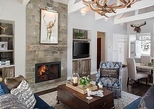 Great Room - Pines Garden - Luxury Rental Cottage Jackson Hole