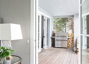 Patio -  Pines Garden - Luxury Vacation Cottage Jackson Hole