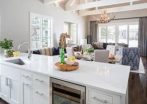 Kitchen - Pines Garden - Luxury Vacation Cottage Jackson Hole