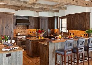 Kitchen - Shooting Star Cabin - Luxury Villa Rental - Teton Vill