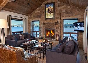 Great Room - Shooting Star Cabin - Luxury Villa - Teton Village