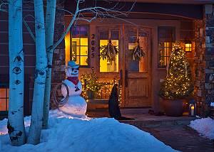 Front Door - Spirit Dance - Jackson Hole, WY -  Luxury Villa