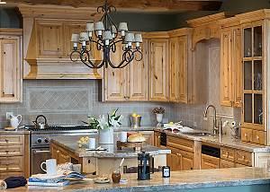 Kitchen - Spirit Dance - Jackson Hole, WY -  Luxury Villa Rental