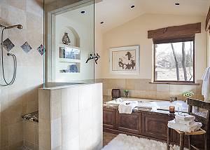 Master Bathroom - Spirit Dance - Jackson Hole, WY -  Luxury Vill