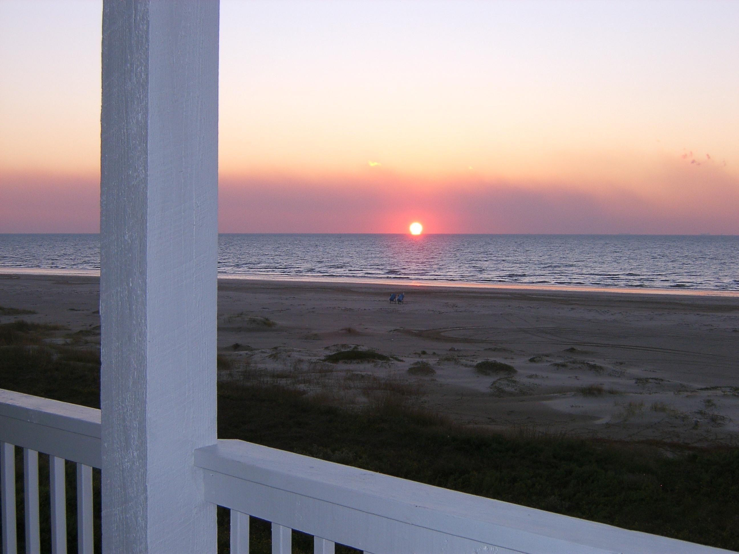 Beachfront Breeze Sunrise Deck View