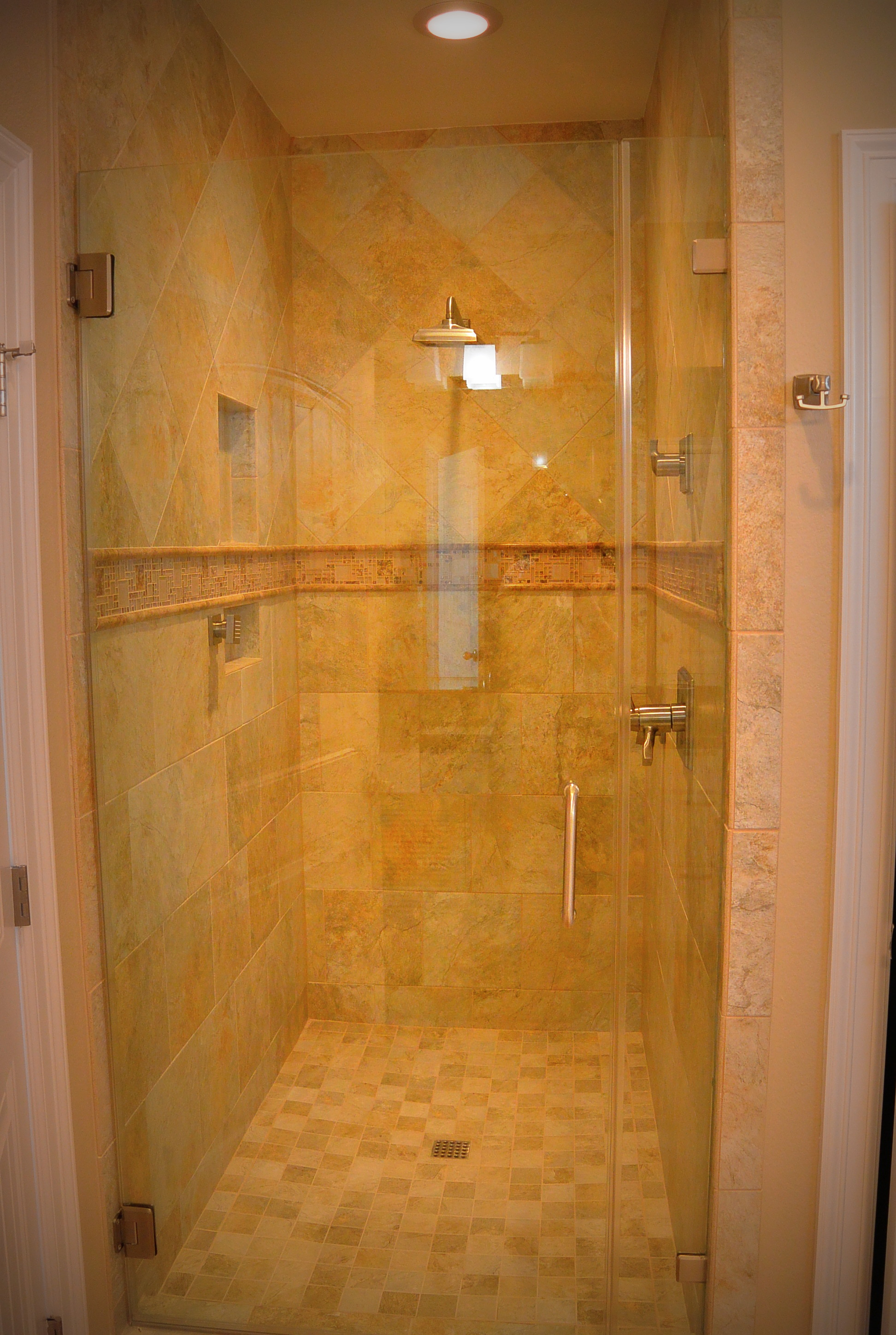 Gulf Pearl Master Bath Walk-in Shower