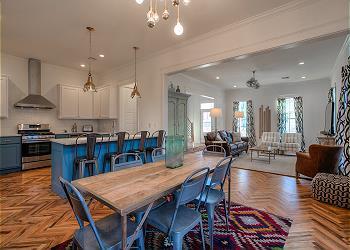 Carlton Landing Cottage rental - Interior Photo - Dining-Living Area
