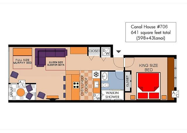 Canal House 706 Waikiki Vacation Rentals – King Of Queens House Floor Plan