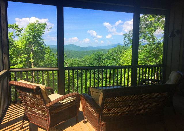 Sutton Knob - Oak Cottage - Screened Porch