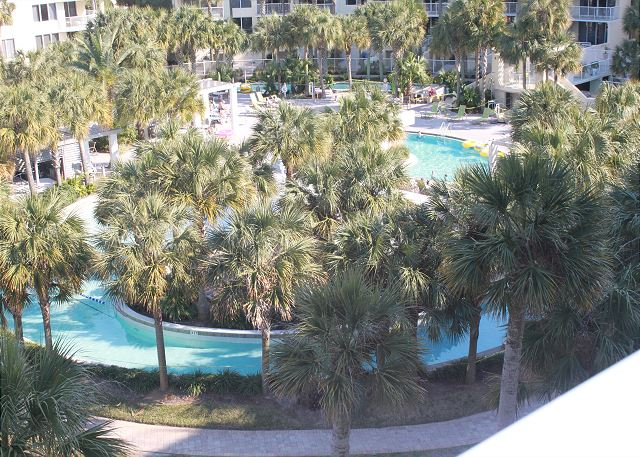 Enjoy the lazy river from your balcony