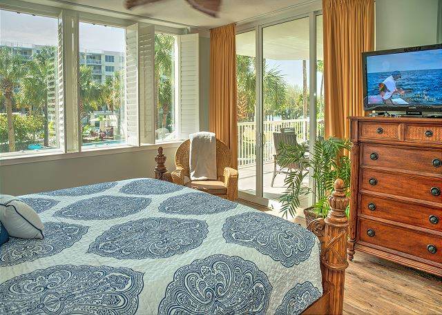 Master Bedroom with private door to patio and beautiful views