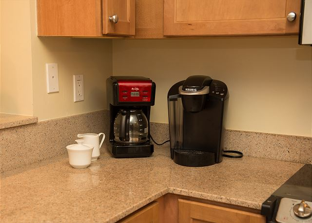 Keurig and Coffee Maker available to use