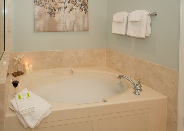 Master Bathroom with Private Two Person Jacuzzi Tub