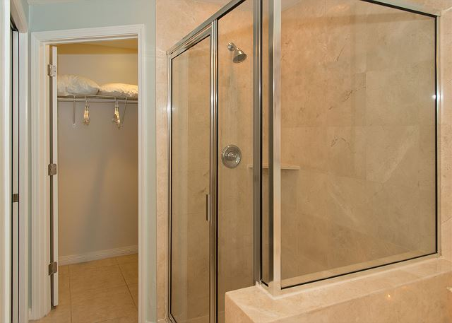 Master Bathroom with Separate Shower and Full Walk in Closet