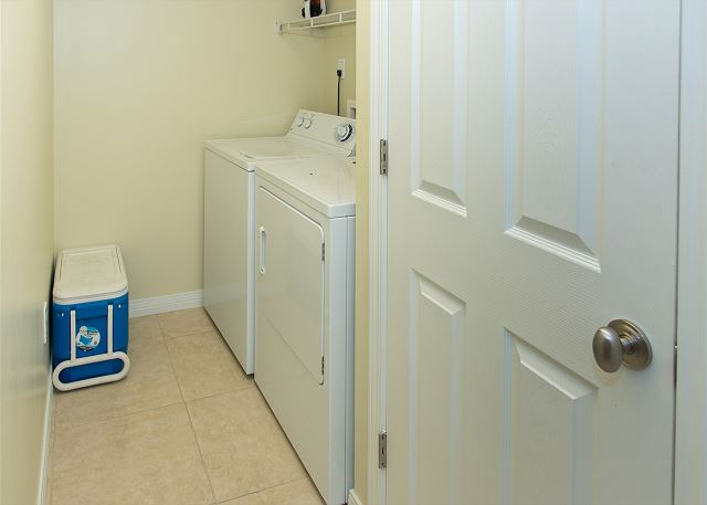 Full Washer and Dryer Room in the unit