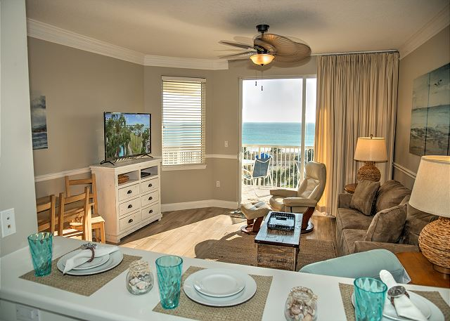 View of Gulf is available from the Kitchen, Living Room and the Master Bedroom.