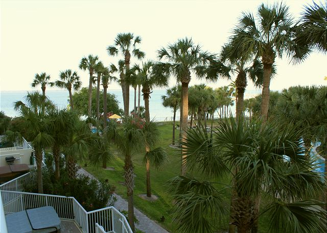 View of bay from balcony