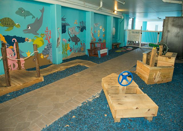 Playground located on ground floor between Pelican and Sandpiper is ideal for the little ones in your group