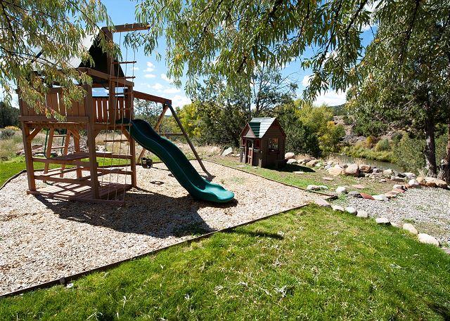 Playground area in yard