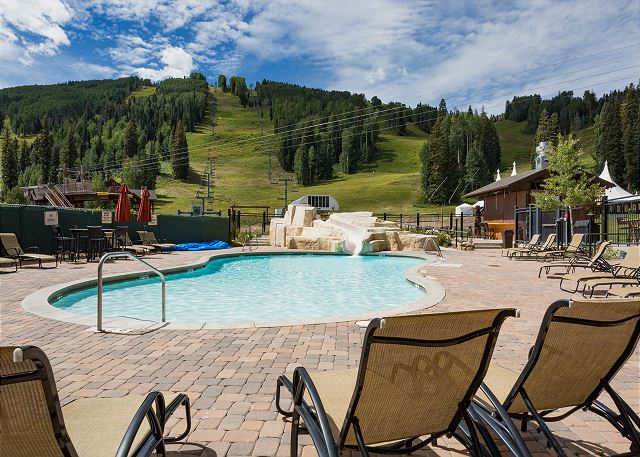 Purgatory Lodge pool. This is an optional amenity that you can access the Purg Lodge pool, hot tub, and gym facilities by paying an additional 4% fee.