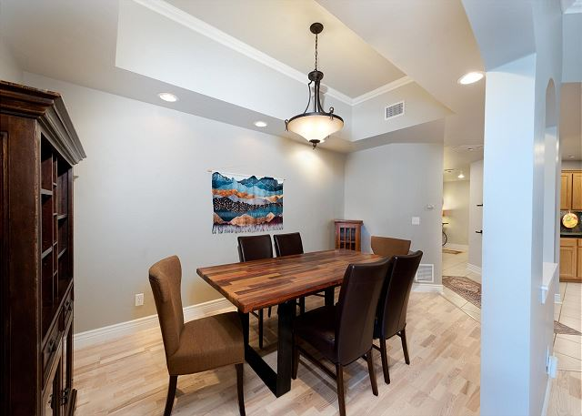 Dining area and table